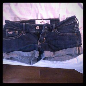 Hollister blue jean shorts